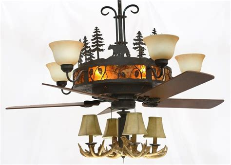 fan and chandelier combo rustic ceiling fans ceiling fan 54 hermitagea golden