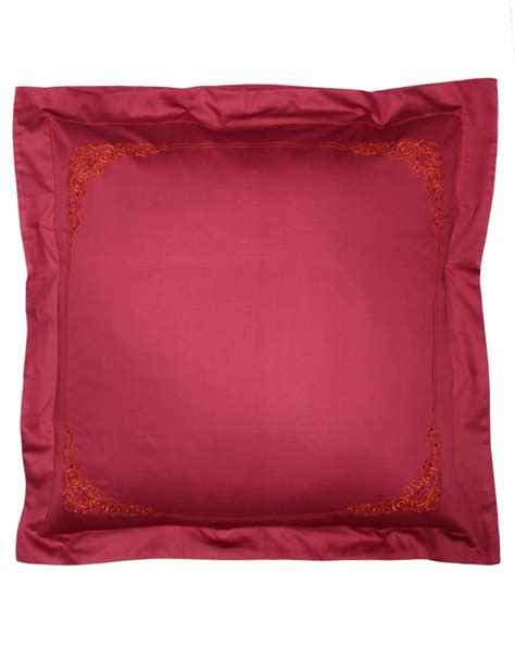 embroidered pillow floreal sateen of cotton