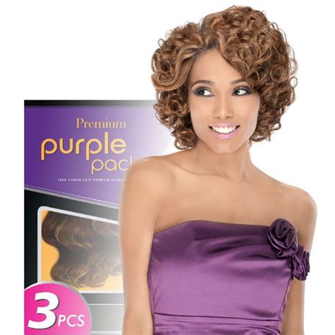 romance curl weave hairstyles outre 100 human hair blend weaving premium purple pack