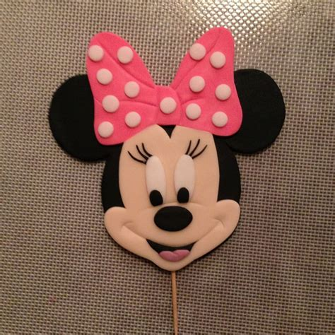 Topper Cake Minnie Mouse minnie mouse cake topper by www amberslittlecupcakery cakes cupcakes by s