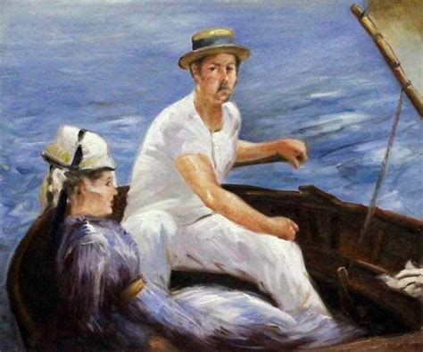 manet boating 1000 images about art manet edouard on pinterest oil