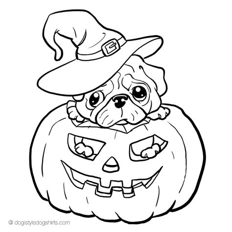 pug color pin pug coloring page on