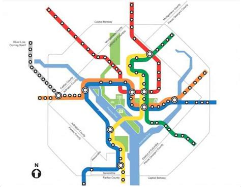 washington dc railroad map metro map metro map