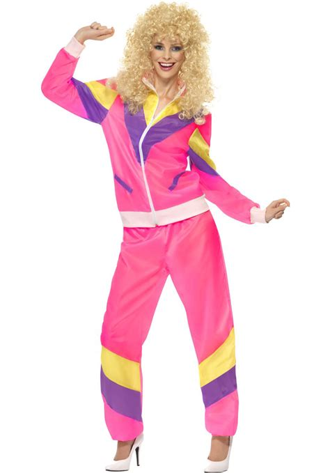 Retro Decorations For Home by 80s Height Of Fashion Ladies Shell Suit Costume Escapade 174 Uk