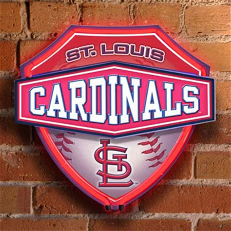 st louis cardinals bedroom decor st louis cardinals mlb neon shield wall l