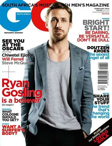 ryan gosling gq hairstyle ryan gosling gq magazine cover south africa february