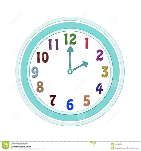 horloge enfant horloge pour des enfants illustration stock image 46472471