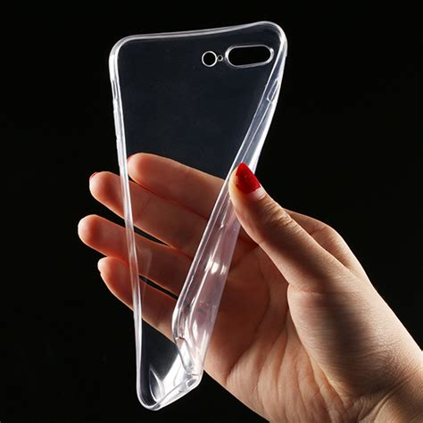 Op4624 For Iphone 7 Plus Soft Silicone Clear Anti Shock Knock Kode Bi 3 transparent clear for iphone 7 iphone 7 plus soft silica gel tpu silicone cover ultra