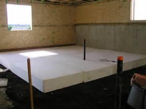 Basement Floor Insulation Basement Floor Slab 171 Cottonwood Passive House