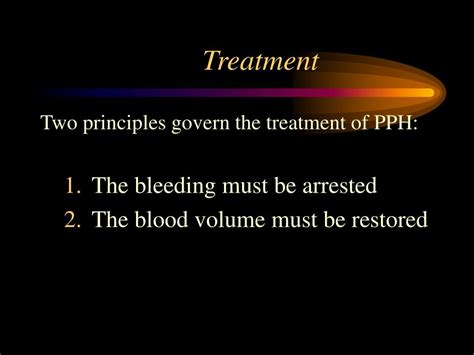 pph treatment ppt postpartum hemorrhage pph and abnormalities of the