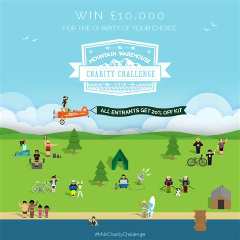 mountain warehouse charity challenge charity challenge 2016 win 163 10 000 for charity inside
