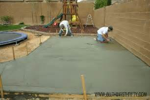 Concrete Ideas For Backyard Concrete Patio Project Backyard Landscaping Update