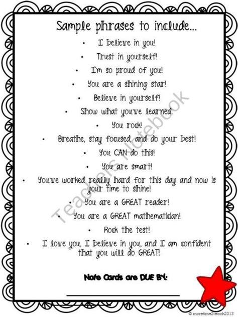 Parent Letter Regarding Testing testing motivation for students teachers notebook free
