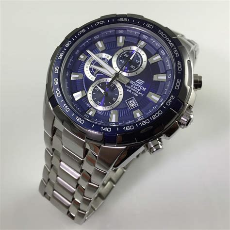 s casio edifice chronograph steel sport ef539d