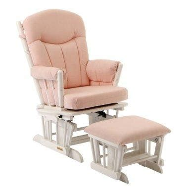 Pink Glider And Ottoman Shermag Glider And Ottoman Pink Gingham Baby Shop