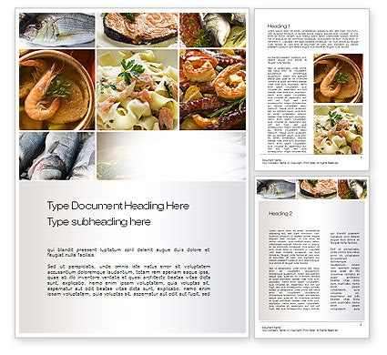 cookbook templates word sea food recipes word template 10779 poweredtemplate