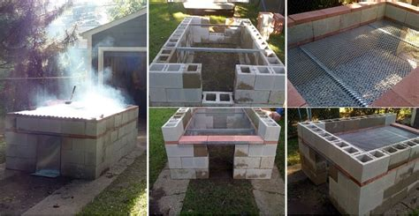 how to build a backyard bbq diy cinder block home design garden architecture blog