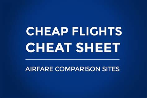 flight sheet all airfare comparison
