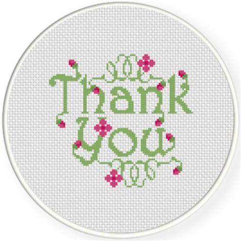 pattern of thank you card thank you cross stitch pattern daily cross stitch