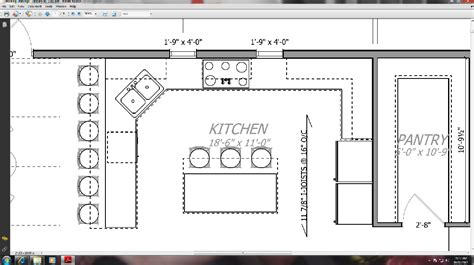 kitchen floor plans with walk in pantry thousand square february 2012