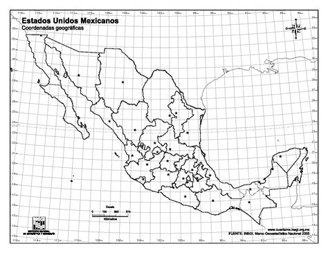 imagenes satelitales con coordenadas mapa para imprimir de m 233 xico mapa mudo de capitales de