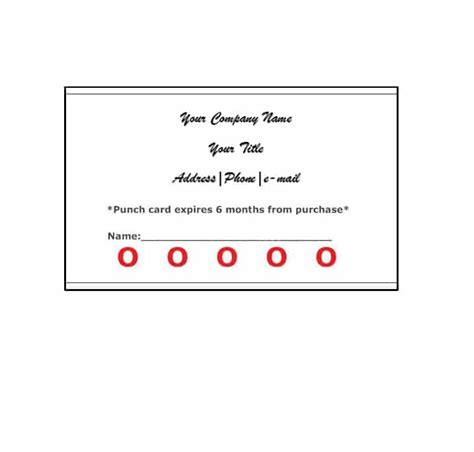 free reward card template 30 printable punch reward card templates 101 free