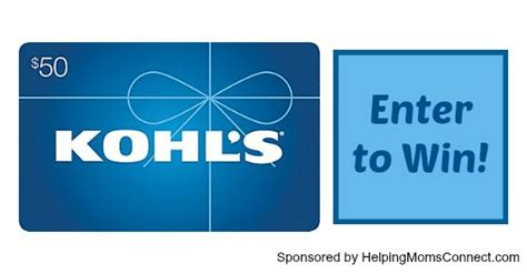 Buy Kohls Gift Card - win a 50 kohl s gift card for back to school