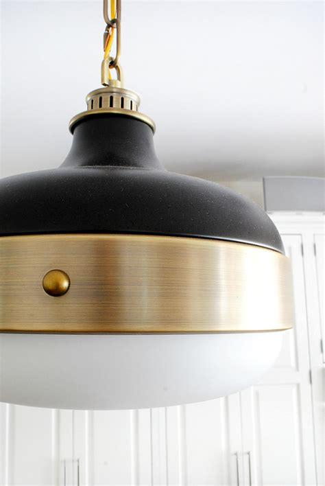 Black And Gold Pendant Light New Kitchen Pendants The Chronicles Of Home