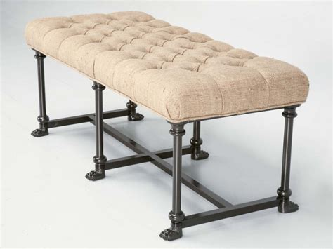 tufted bench seat custom bench with steel frame tufted seat now in stock