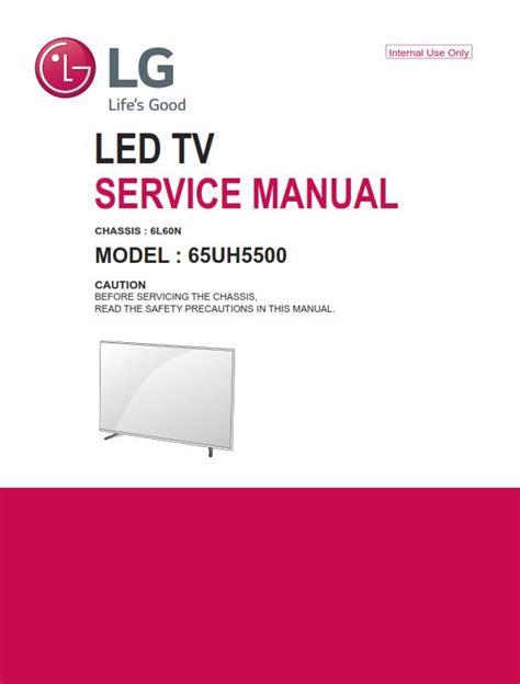 Lg 65uh5500 Television Original Service Manual
