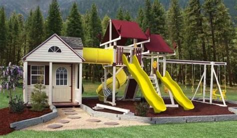Garden Shed Playhouse Combo by 21 Best Swing Set Fort Images On Swing