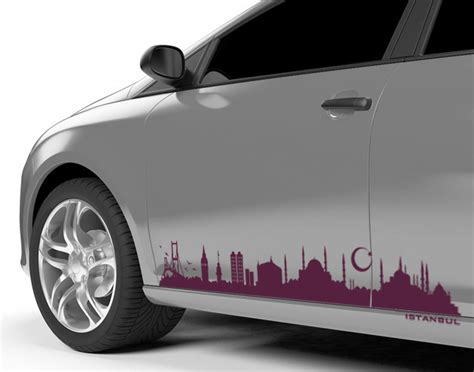 Audi Autoaufkleber by Autoaufkleber Skyline Istanbul Die Stadt Als Autotattoo