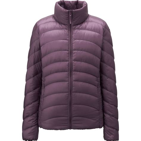 uniqlo women ultra light down parka uniqlo women ultra light down jacket in purple lyst