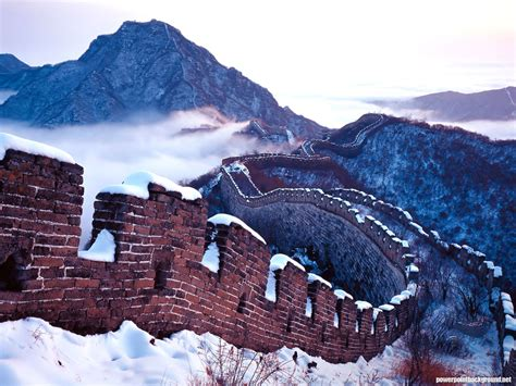 Great Wall China Background For Powerpoint Powerpoint Great Wall Of China Powerpoint