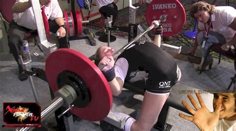 whats the world record for bench press 13 year old girl can bench press 198lbs world record