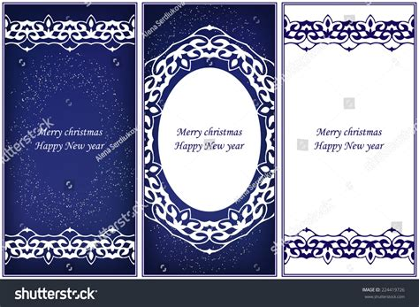 ornate card templates set ornate cards style eastern stock vector
