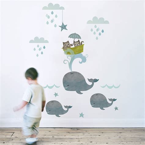 Owl And Pussycat Fabric Wall Sticker Wall Sticker Fabric Wall Decals For Nursery