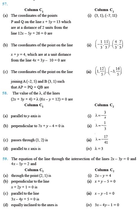 class 11 important questions for maths lines aglasem schools