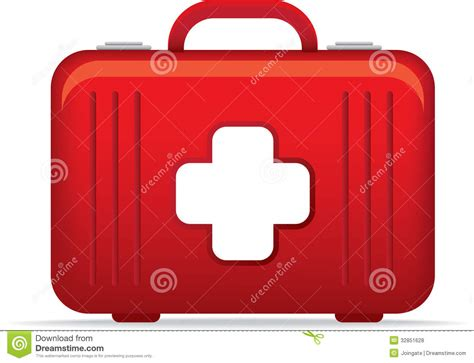 Dokter Emergency Bag emergency kit bag icon or symbol illustrat royalty