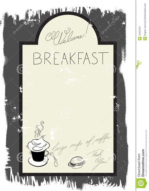 Breakfast Menu Clipart Clipart Suggest Brunch Menu Template Free