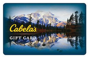Where Are Cabelas Gift Cards Sold - 25 50 100 cabela s gift card mail delivery ebay