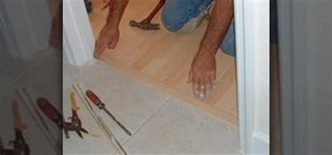 Difference Between Laminate And Hardwood how to install a t mold transition between laminate