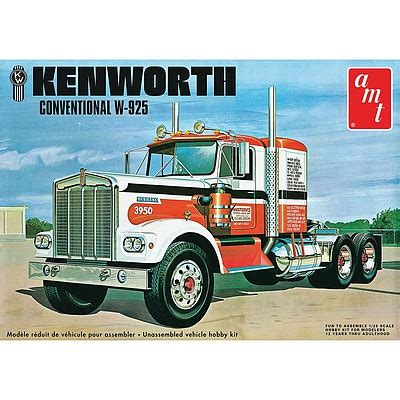 kenworth models kenworth w925 conventional semi tractor plastic model