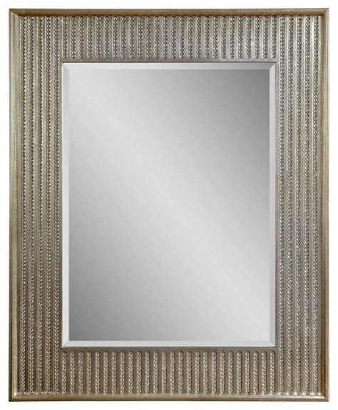 bling chagne rectangle wall mirror mirrors by