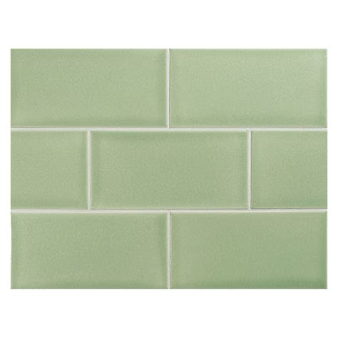 Colored Subway Tile Vermeere Ceramic Tile Celeste Green Gloss 3 Quot X 6 Quot Subway Tile
