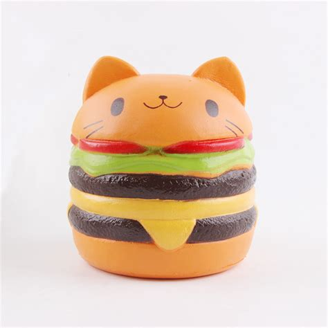 Animal Burger Squishy Rising With Packaging jumbo squishy cat burger rising soft animal