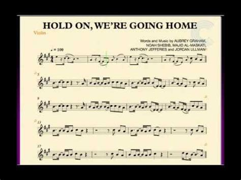 violin hold on we re going home sheet