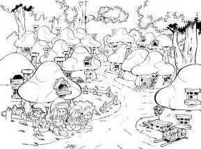 Smurfs In Lost Village Coloring Page For Kids Get