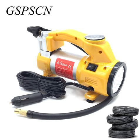 Heavy Duty Air Compressor Portable Colokan Lighter Mobil gspscn portable 12v air compressor car tyre inflator heavy duty tire inflator car tool