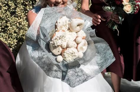 Wedding Bouquet Made Of Donuts by Starts Viral Trend Of Donut Bridal Bouquet Arabia